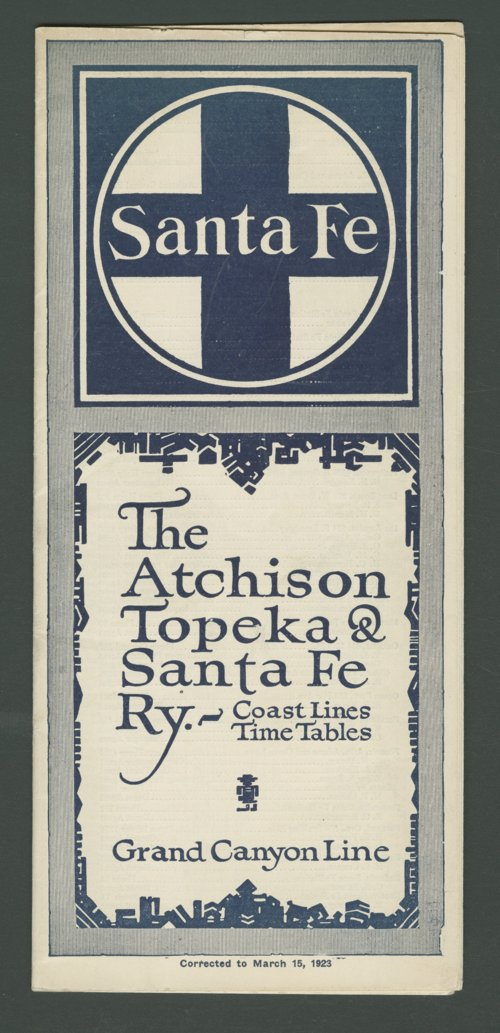 Atchison, Topeka & Santa Fe Railway Company time tables - Page