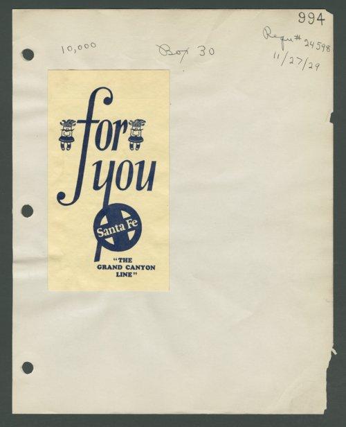 "Atchison, Topeka & Santa Fe Railway Company's ""The Grand Canyon Line"" - Page"