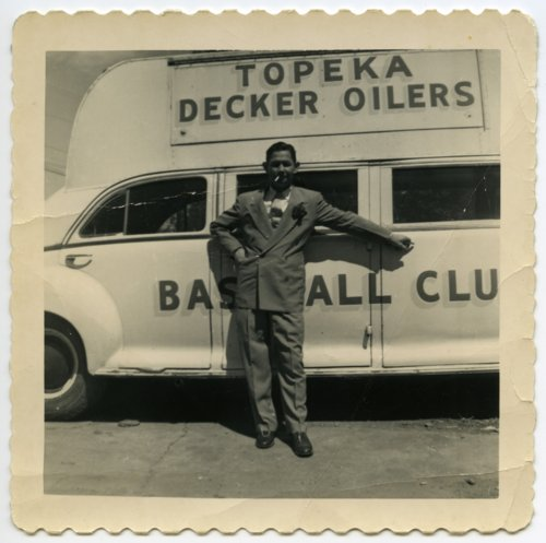 Vern Coffman with Decker Oiler bus, Topeka, Kansas - Page