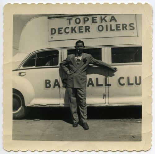 Vern Coffman with Decker Oiler bus, Topeka, Kansas - Page