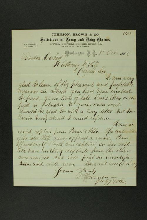 Boston Corbett correspondence - Page