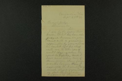 Correspondence of George Huron concerning Boston Corbett - Page