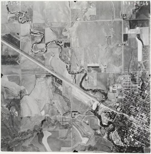 Aerial view of Ellis County, Kansas - Page