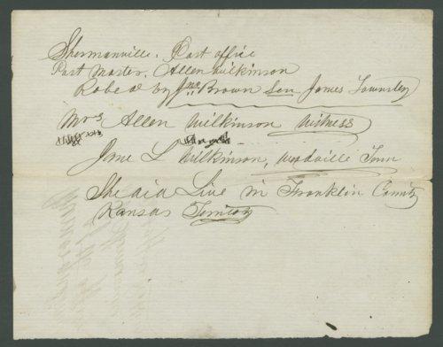 Kansas Territory, U.S. District Court versus John Brown Sr., Owen Brown, Frederick Brown, Salmon Brown, Oliver Brown, et al. - Page