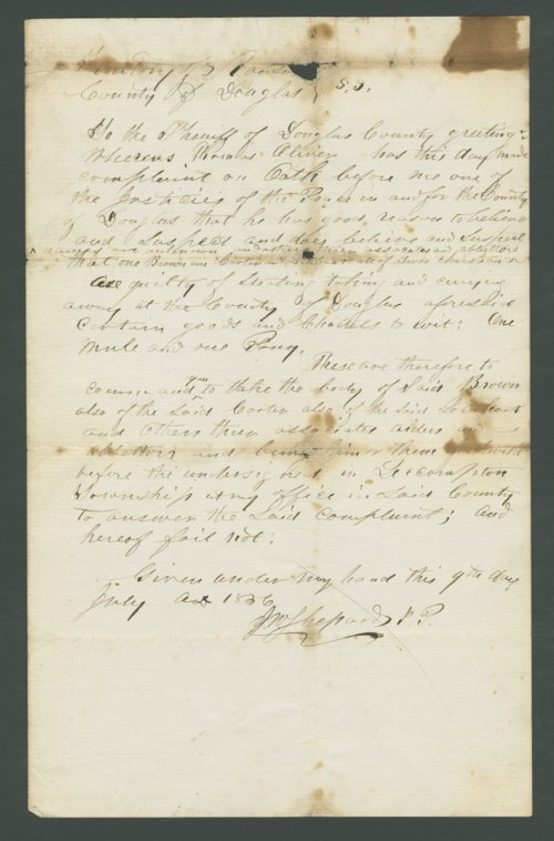 Kansas Territory, U.S. District Court versus John Brown, Carter, and Lenhart - Page