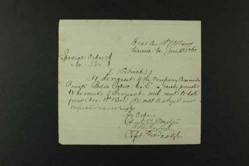 Boston Corbett's military documents - Page