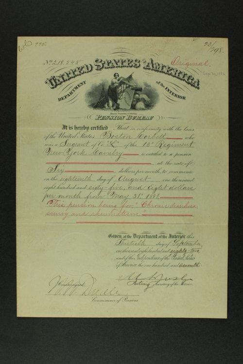 Boston Corbett's pension documents - Page