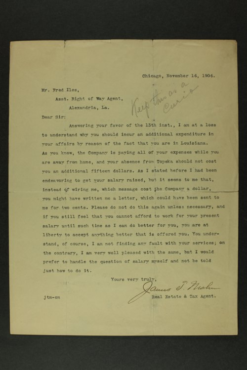 Fred Iles correspondence - Page