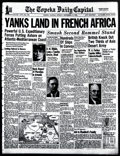 Yanks Land in French Africa - Page