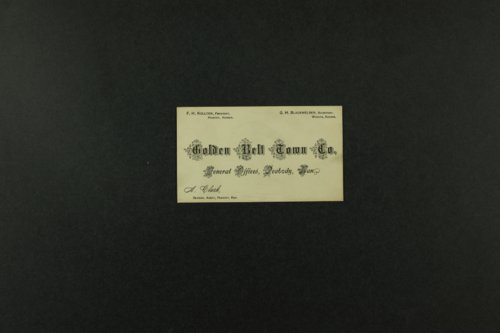 Golden Belt Town Company records - Page