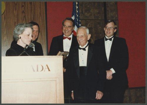 Senator Nancy Landon Kassebaum presenting former Senator Frank Carlson with an award - Page