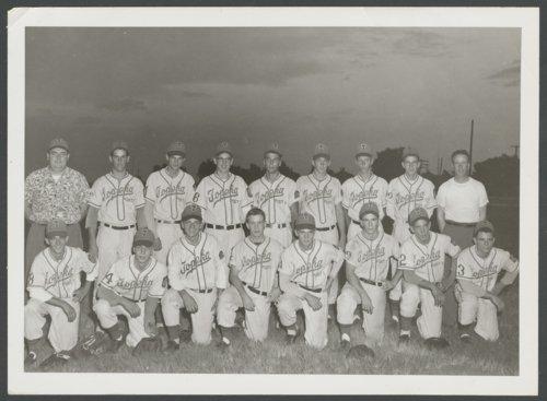 Topeka Mosby-Macks baseball team photograph and certificate - Page