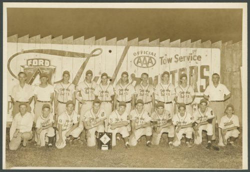 Topeka Mosby-Macks baseball team photograph and certificate - Page