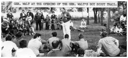 General Lewis Walt at the opening of the General Walt Boy Scout Trail - Page