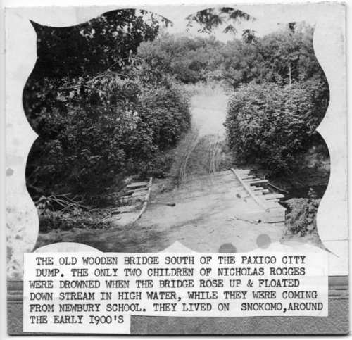 Old Mill Creek bridge site in Paxico, Kansas - Page