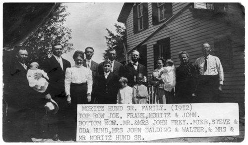 Moritz Hund Sr. family in Paxico, Kansas - Page