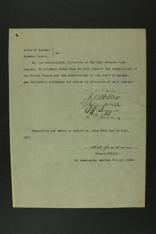 East Abilene Town Company records - Page