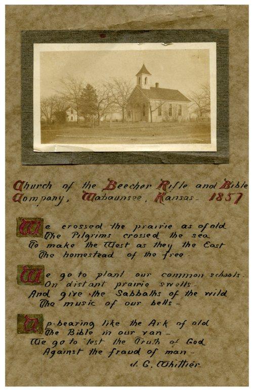 Beecher Bible and Rifle Church, Wabaunsee, Kansas - Page
