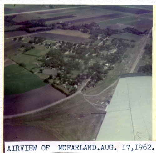 Aerial view of McFarland, Kansas - Page
