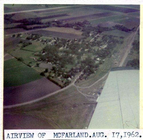Aerial view of McFarland, Kansas - Page
