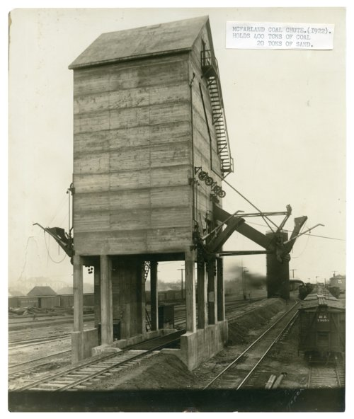 Chicago, Rock Island and Pacific Railway coal chute in McFarland, Kansas - Page
