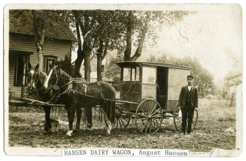 Dairy wagon in McFarland, Kansas - Page