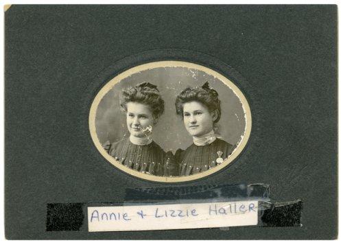Annie and Lizzie Haller - Page