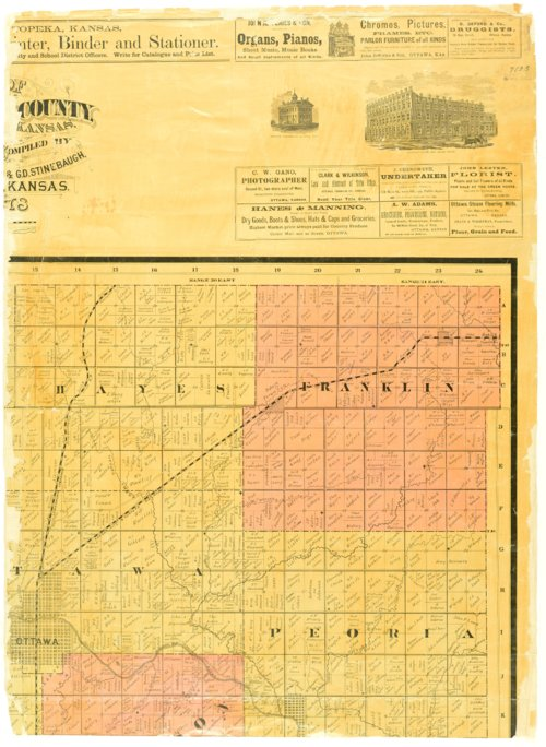 Map of Franklin County, Kansas / compiled by Leonard F. Shaw & G. D. Stinebaugh - Page