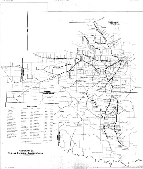 Atchison, Topeka & Santa Fe Railway Eastern Lines, Middle Division - Page