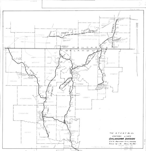 Atchison, Topeka & Santa Fe Railway Eastern Lines, Oklahoma Division - Page