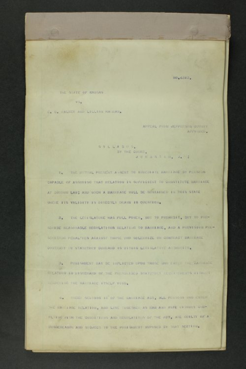 State of Kansas vs. E. C. Walker and Lillian Harman - Page