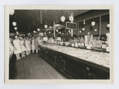 Women at the F. W. Woolworth Company's jewelry counter in Topeka, Kansas - Page
