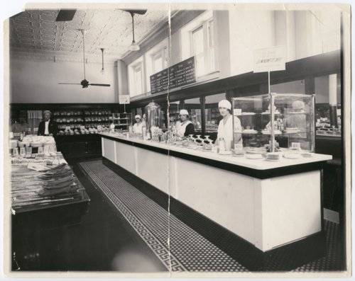 Luncheonette counter at the F. W. Woolworth Company store in Topeka, Kansas - Page