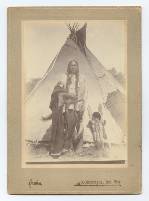 Kiowa man with a baby - Page