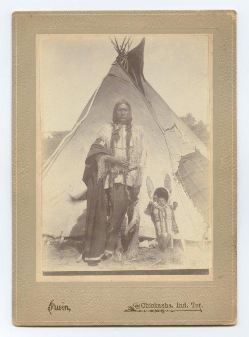 Kiowa man with a baby - Page