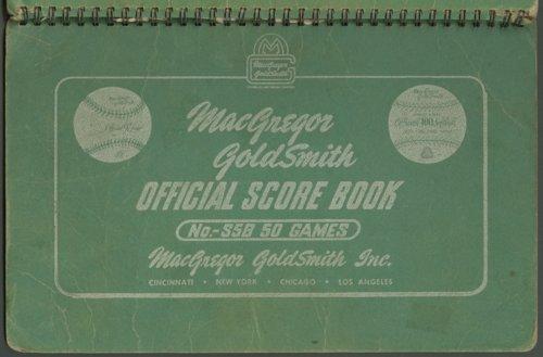 Berryton High School baseball scorebook - Page