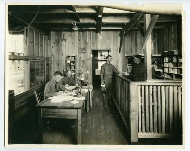 Infirmary office at Camp Funston, Kansas - Page