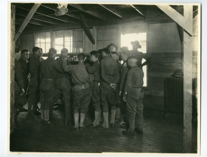 Interior view of the Y.M.C.A. at Camp Funston - Page