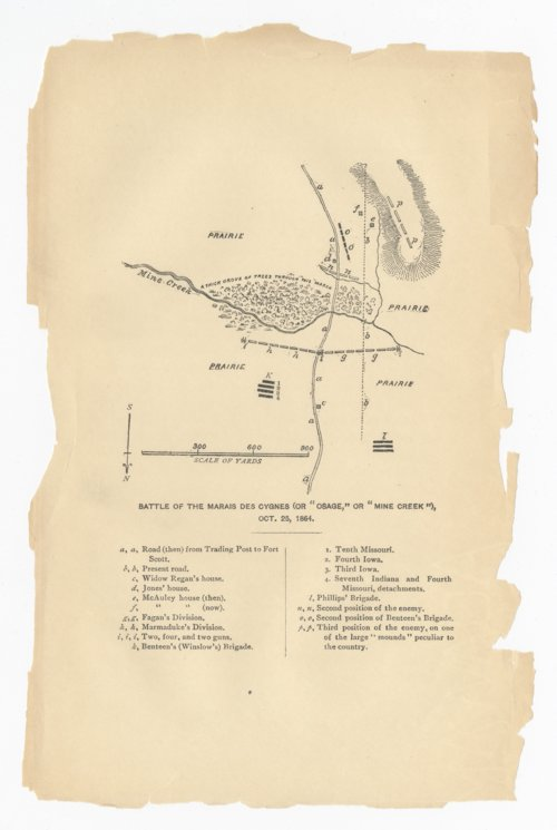 Battle of the Marais Des Cygnes or Osage or Mine Creek - Page