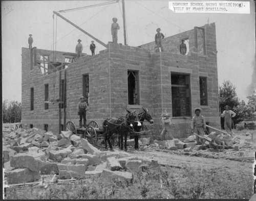 Construction of Sacred Heart School in Newbury, Kansas - Page