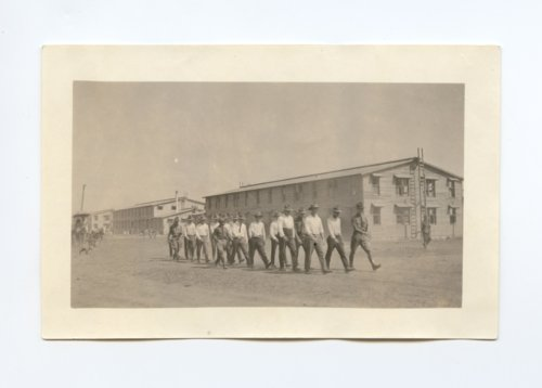 Training new recruits at Camp Funston - Page