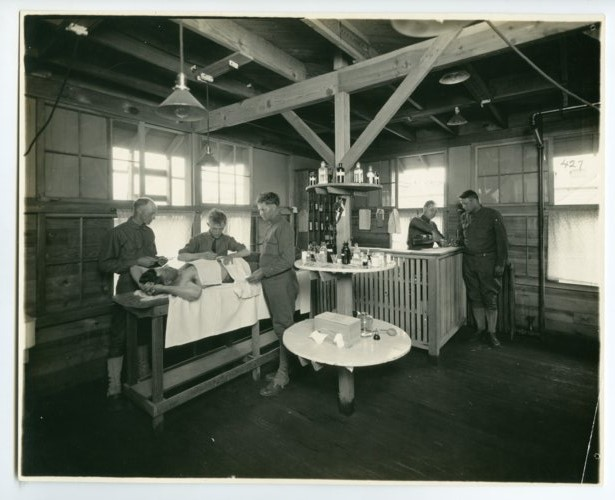 Infirmary operating room, Camp Funston - Page