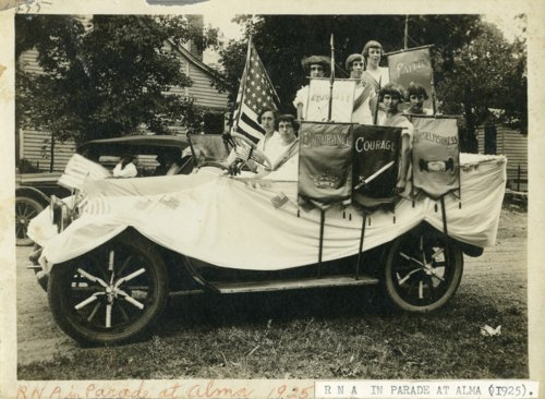 Royal Neighbors of America parade car in Maple Hill, Kansas - Page