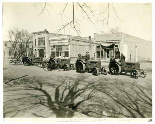Wallis tractors on Main Street in Alma, Kansas - Page