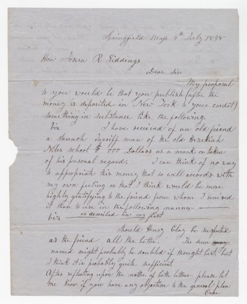 John Brown to Joshua Giddings - Page