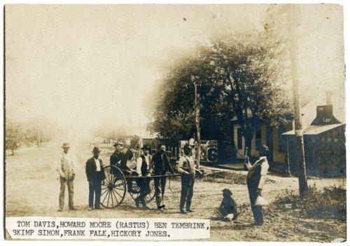 Men with donkey cart in Alma, Kansas - Page