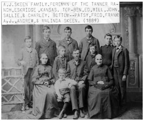 A. J. Skeen family in Eskridge, Kansas - Page