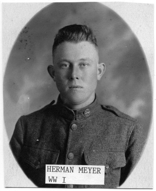Herman Meyer in World War I uniform - Page