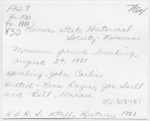 Museum ground breaking ceremony, Topeka, Kansas - Page