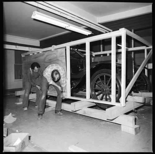Packing an automobile to be moved to the new museum, Topeka, Kansas - Page